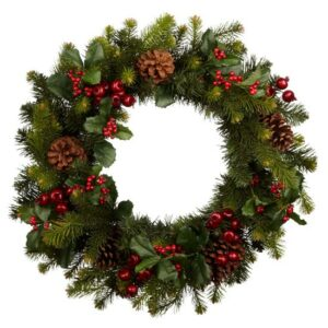 01-Premium-red-berry-wreath-from-John-Lewis-All-rooms-PHOTO-GALLERY-Country-Homes-and-Interiors-Housetohome.co.uk