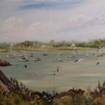 Susan E. Hanna, Bright Morning at Little Harbor, Oil/Canvas, 7 x 14,  $395