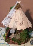 Jean Martin, Fairy House, natural materials and mixed media, $25 and up