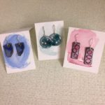 Anne Strout, Sterling and Enamel Earrings, $36 pair