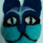 Jean Martin, Felted Cathead pins or ornaments