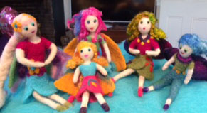 Jean Martin, Fairy Dolls, felted