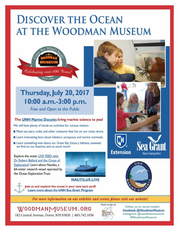 Ocean Discovery Day at the Woodman Museum
